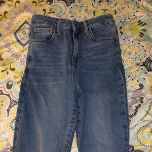 Blue High Wasted skinny Jeans